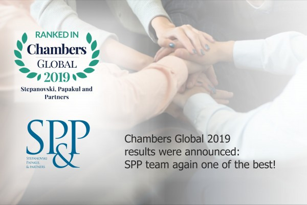 Chambers Global 2019 results were announced: SPP team again one of the best!
