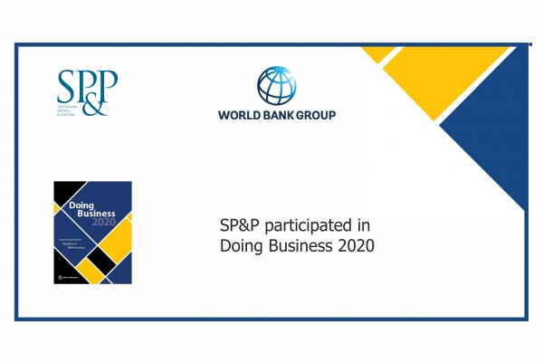 SP&P took part in the Doing Business 2020 project