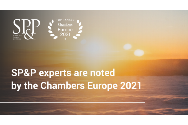 SP&P experts are noted by the international rating Chambers Europe 2021
